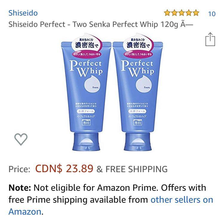 Shiseido Senka Perfect Whip Facial Wash (Pack of 2)