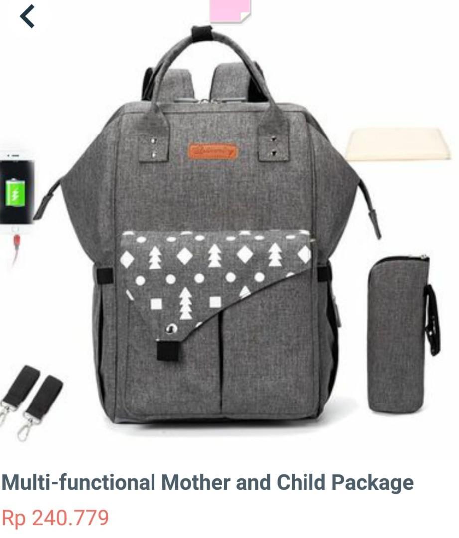 Tas Ransel Perlengkapan Ibu Dan Anak MULTI FUNGSI