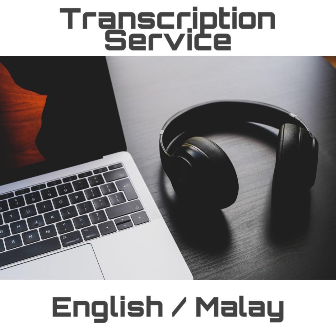 Transcription Service [English/ Malay]