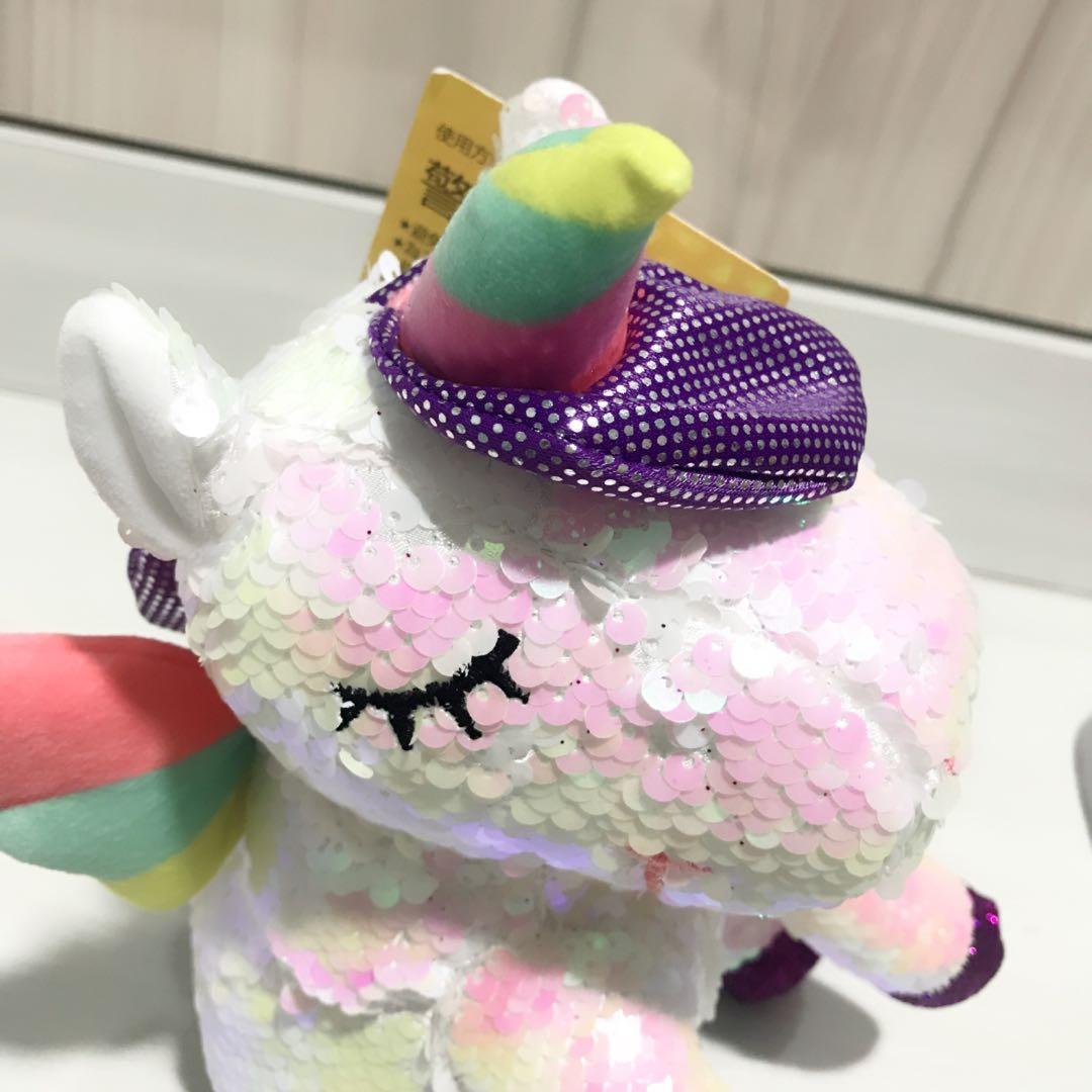 Sale!! Unicorn Sequin Soft Toy Plush Glitter Sparkle