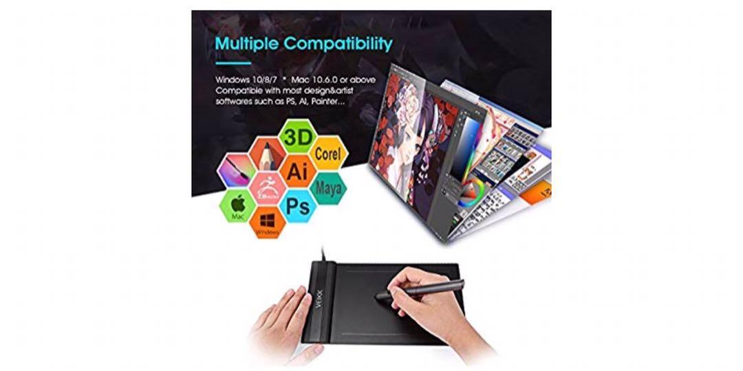 Veikk Graphic Drawing Tablet (S640) 6x4 inch Pen