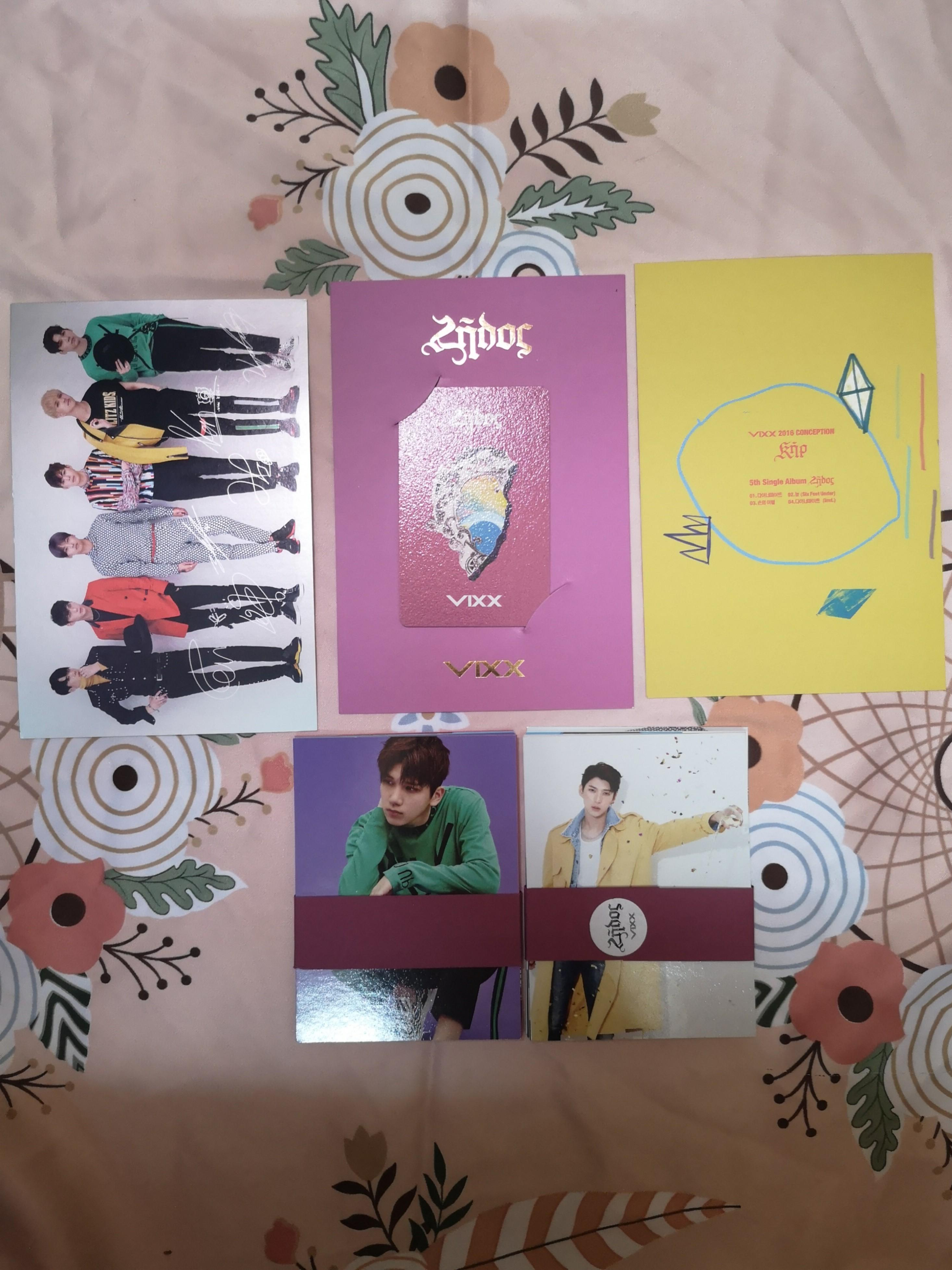 VIXX 5th Single Album - ZELOS (Kihno Ver + Album Ver)