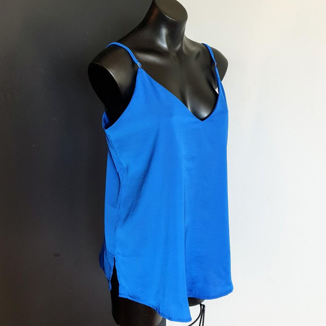 Women's size M 'BOHEMIAN TRADERS' Stunning royal blue cami top - AS NEW