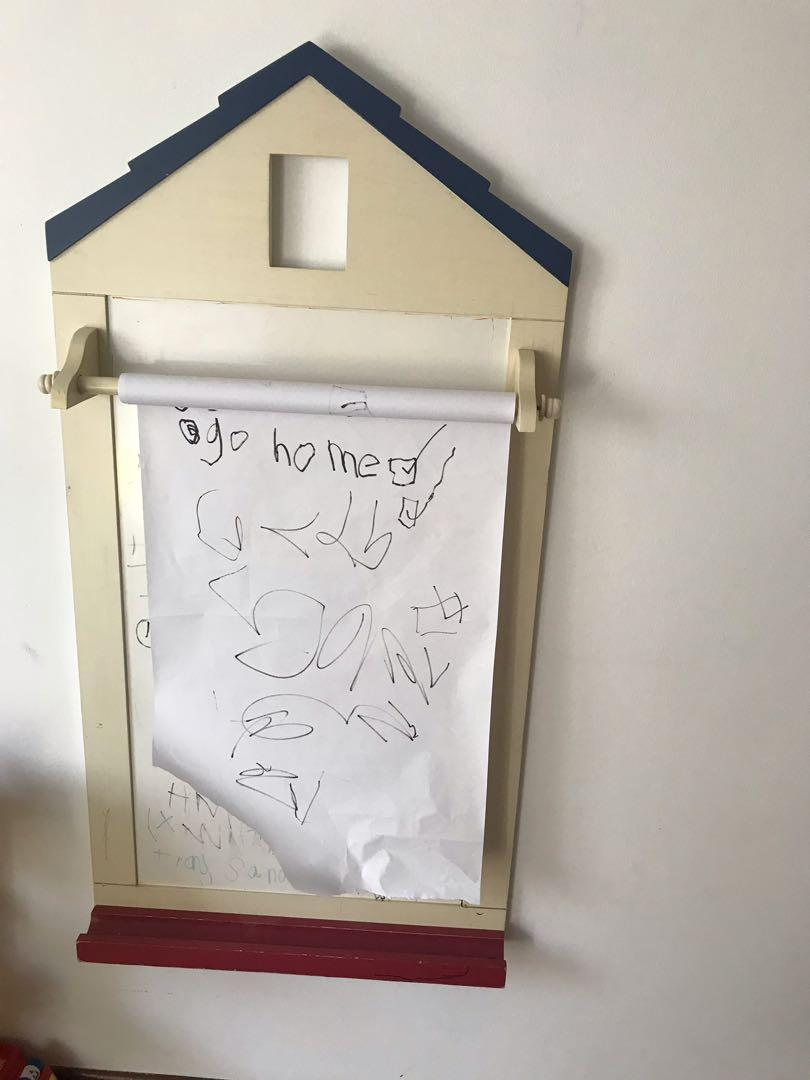 Wooden white board and drawing board