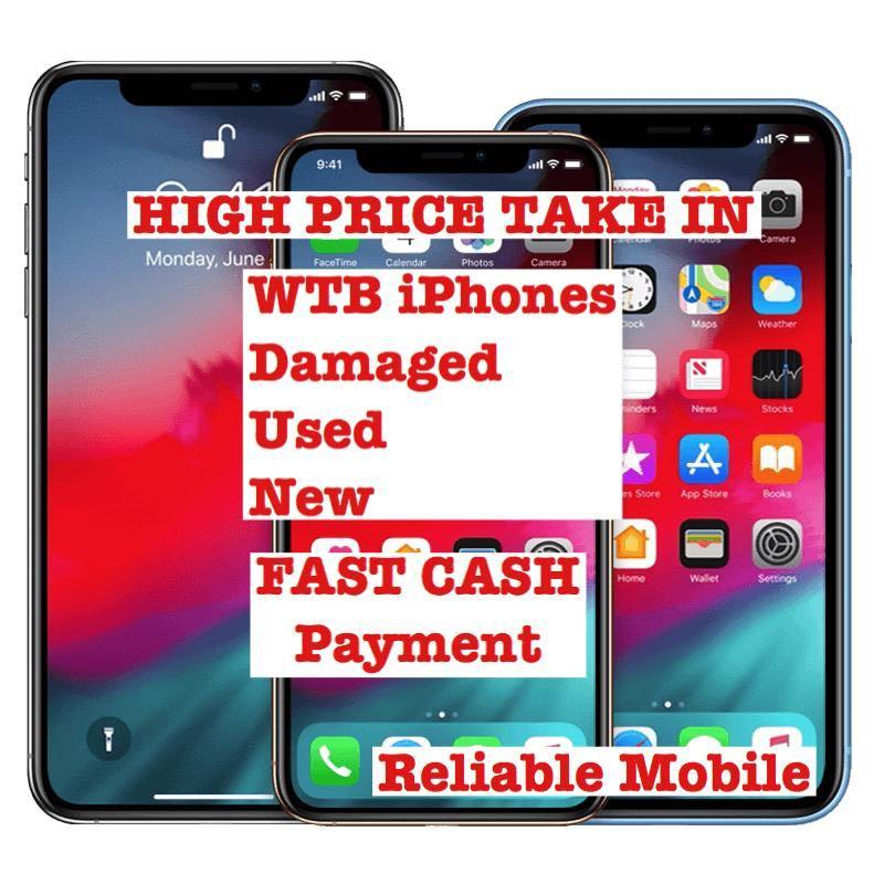 WTB Want To Buy Back USED Damaged Crack Spoil Phone iPhone 6 7 8 X XS XR Plus Huawei NOVA 3i PofoFone OPPO Redmi Samsung S8 Plus S9 S10 Plus Note 8 Note 9 Note 5 S7 Edge Note 10 Phone Buy Back Trade In