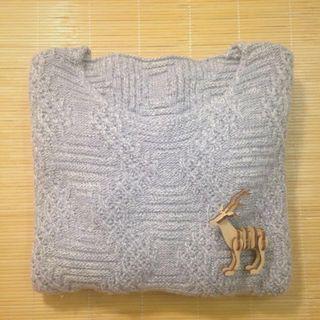 Winter|短板灰色毛衣