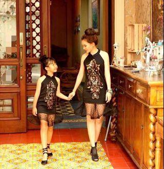 NEW!! Couple Black Halter Dress Mom&Girl