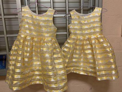 Girls Yellow Matching dress