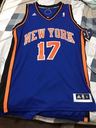 NBA 愛迪達 林書豪 尼克球衣 全新含吊可面交