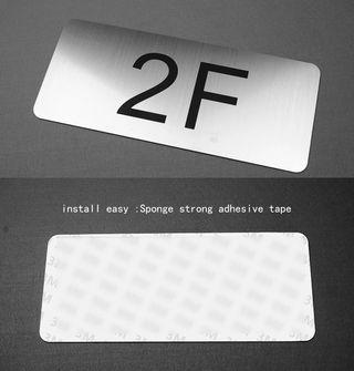 [PREORDER] 🆕🆒 size 30*13cm house number building number floor sign room number sliver brushed ABS Customize Numbers and letter not fade