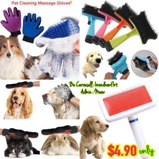 Pet Makeup Brush Cleaner pet glove comb Dog cat rabbit