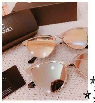 CHANEL 太陽眼鏡 銀色鏡片