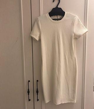 ZARA TRA.簡單優雅紋理窄裙修身小洋裝(長版上衣/T恤)
