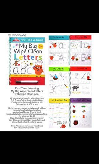 Big wipe clean book ABC
