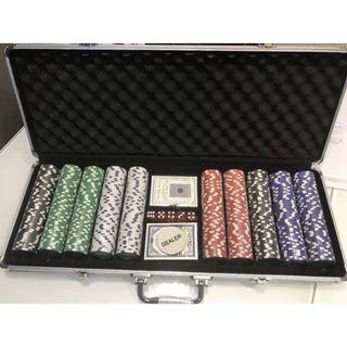 Instock 500pcs of Poker chips set