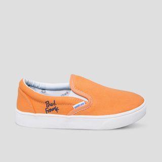 sepatu paul frank slip on wanita mustard peach