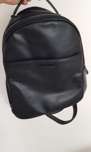 Aldo black leather backpack