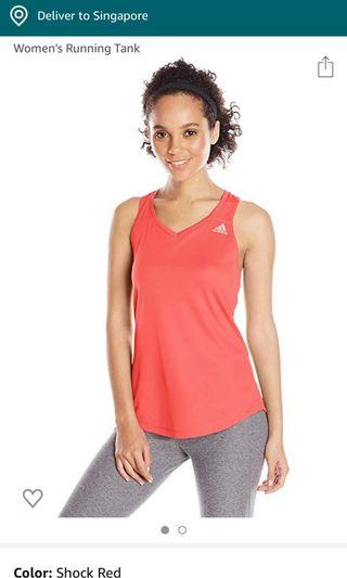 BNWT Adidas Run tank with twisted back sz S