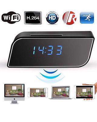 WiFi Hidden Camera Clock -Full HD 1080P Wireless Spy Camera Alarm Clock P2P Mini IP Camera Home Security Surveillance Camera Recorder for Viewing on Smartphone