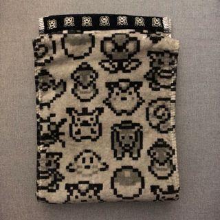日本 神奇寶貝中心 特級收藏 毛巾 精靈寶可夢 馬賽克 點陣