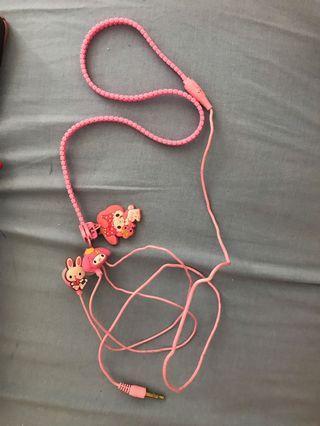 Headset pink hello kitty