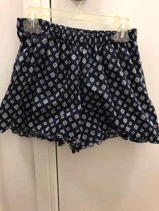 Navy patterned shorts