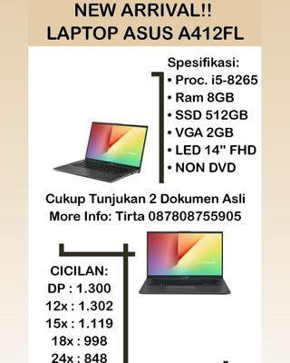 Laptop Asus A412FL Bisa Cicilan Tanpa Bunga