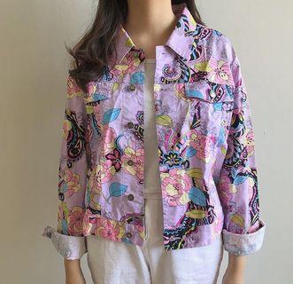 Floral Jacket denim jeans boston proper