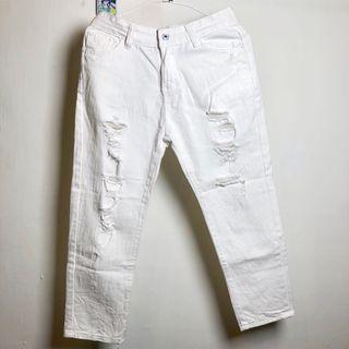 白色破壞男友褲