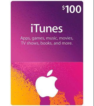 iTunes Gift Card US$100