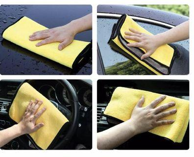 Yellow Thick Microfiber Cloth / Towel (30x40 cm)