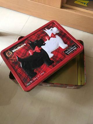 Red Metal Tin Box (Empty)