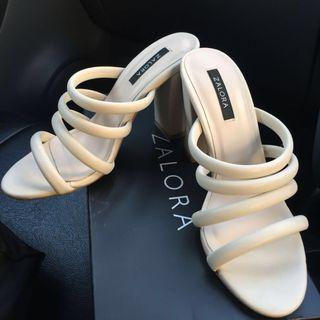 Zalora multi tubular strap heels