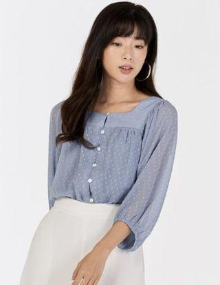 TCL ALOUETTE DOTTED BLOUSE IN PERIWINKLE