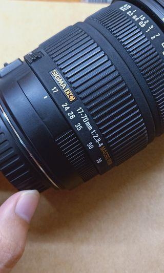 Sigma 17 70mm 2.8-4 for Canon