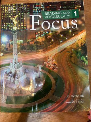 Reading and Vocabulary Focus Student Book 1