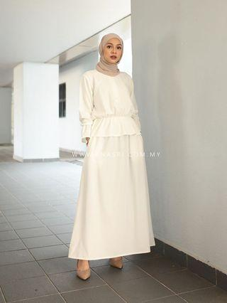 Anasri Peplum Skirt Suit