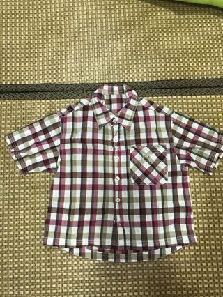 男童格子襯衫👔