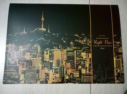 韓國 Lago Scratch Night View 環遊世界金色夜景刮刮畫 乙入(首爾)
