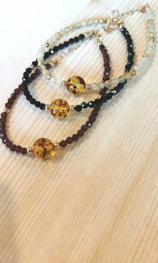 Minimalist Amber bracelet