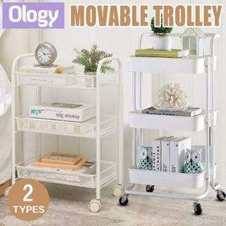 Multi-Purpose Movable Trolley  3 Tier with Handle