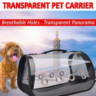 TPE098 Pet Transparent Carrier Foldable