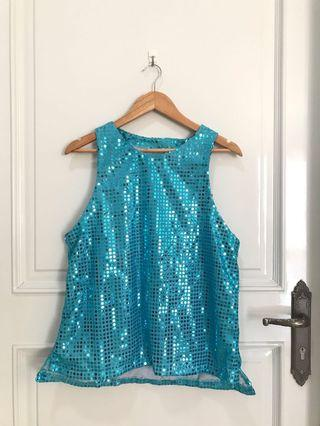Oversize Blue Dance Costume ITZY Yuna