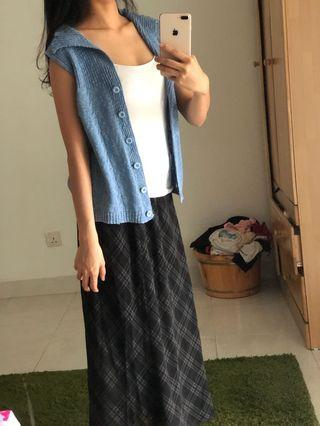 Japanese blue knit top
