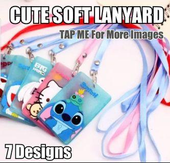 Children Day Gift, Cute Cartoon Soft Lanyard, Card Holder / ID Holder / Ez-Link card Holder / Name Tag, Stationery, Birthday, Christmas, Party, Gifts, Goodie Bag, Hello Kitty, Totoro, Doraemon, Baymax, Stitch
