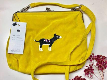 黃色 小驢子 口金包