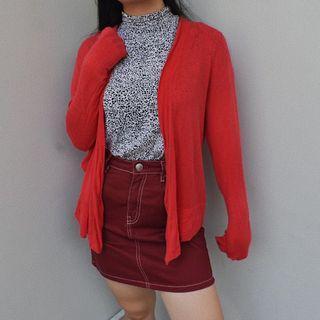 Red Cardigan GAP