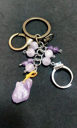 紫水晶原礦加戒子
