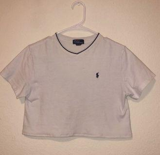 ralph lauren white crop top