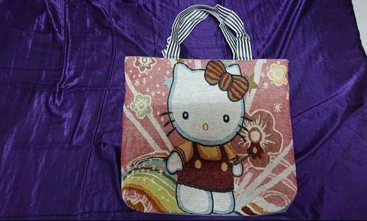 Hello kitty凱蒂收納袋45*42cm打包袋旅行袋萬用袋